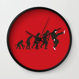 Evolution of silly walks Wall Clock