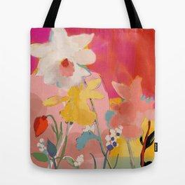 blooming abstract pink Tote Bag