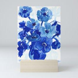 blue stillife Mini Art Print