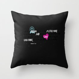 Dream and Love Poetry Throw Pillow