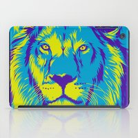 the lion king iPad Cases featuring KING LION by free_agent08