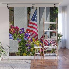 Flags & Flowers Wall Mural