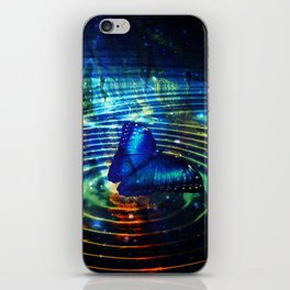 The Butterfly Effect in Blue iPhone Skin