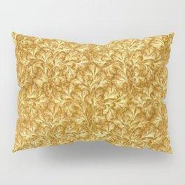 Vintage Floral Lace Leaf Yellow  Pillow Sham