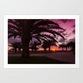 Meloneras sunset walk Art Print