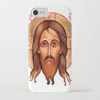 christ iPhone & iPod Cases featuring Jesus Christ by oxana zaika