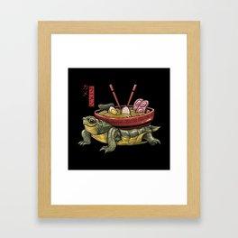 Kame Ramen Framed Art Print