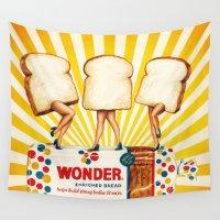 women Wall Tapestries featuring Wonder Women by Kelly Gilleran
