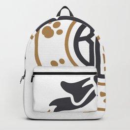 dog monogram Backpack