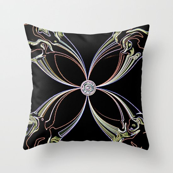 Flowering XII Throw Pillow