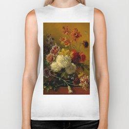 "George Jacobus Johannes van Os ""Still Life with Flowers"" Biker Tank"