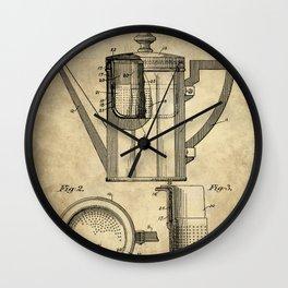 Coffee Pot Blueprint Wall Clock