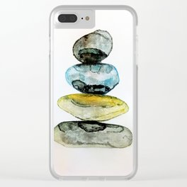Stones in water colour Clear iPhone Case