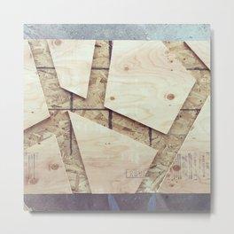 Geometric Wood Metal Print