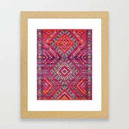 N118 - Pink Colored Oriental Traditional Bohemian Moroccan Artwork. Framed Art Print