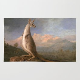 The Kongouro Oil Painting by Australian Artist George Stubbs Rug