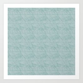 cadence triangles - dusty blue Art Print