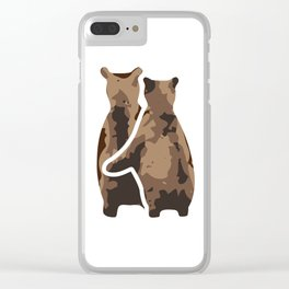 BEAR COUPLE Clear iPhone Case