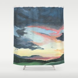 Sunset over Yellowstone Shower Curtain