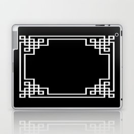 Black White Lattice Frame Laptop & iPad Skin