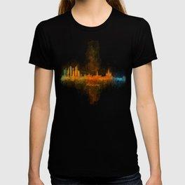 Moscow City Skyline art HQ v4 T-shirt