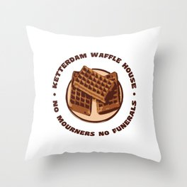 Ketterdam Waffle House Throw Pillow