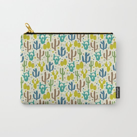 Prickly Cactus (Greens) Carry-All Pouch