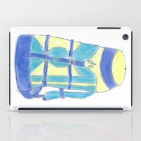 backpack iPad Cases featuring A backpack yellow by Atelier Pora