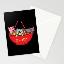 Kawaii Anime Cat Shirt - Funny Adorable Japanese Illustration Stationery Cards