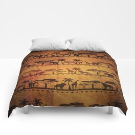 African Animal Pattern Comforters