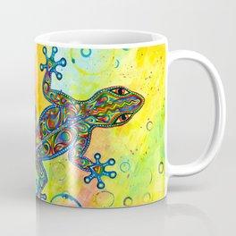 Electric Gecko Psychedelic Paisley Lizard Coffee Mug