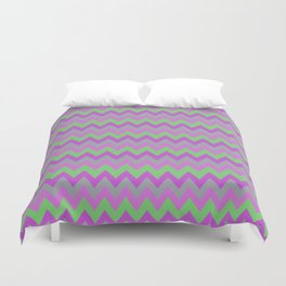 pink purple and green chevron Duvet Cover