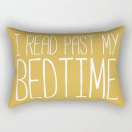 I Read Past My Bedtime (Mustard) Rectangular Pillow