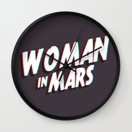 WOMAN IN MARS Wall Clock