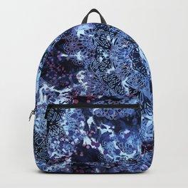 Iris Mandala Blue Backpack