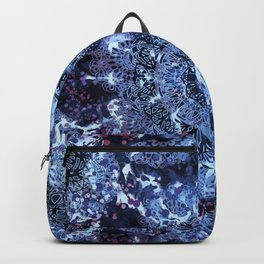 Iris Mandala Blue Backpack