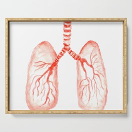 Human lungs Serving Tray