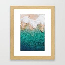 Shimmering To Shore Framed Art Print