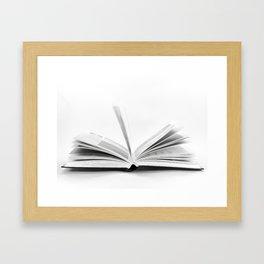 Opening Book Framed Art Print
