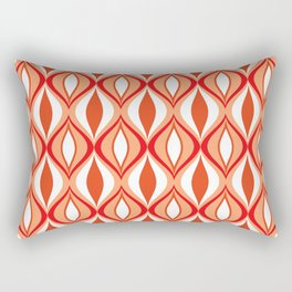 Mid-Century Modern Diamonds, Orange and White Rectangular Pillow