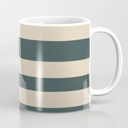 Alpaca Wool Cream PPG14-19 Bold Hand Drawn Horizontal Stripes on Night Watch PPG1145-7 Coffee Mug