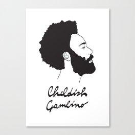 Childish Gambino - Minimalist profile portrait Canvas Print