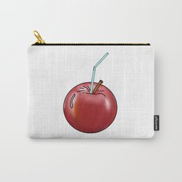 red Apple and a cocktail straw Carry-All Pouch