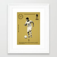 neymar Framed Art Prints featuring Neymar by Dylan Giala