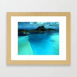 Bora Bora Lagoon Aerial Framed Art Print