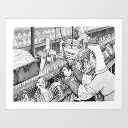 Foie Gras Production Art Print
