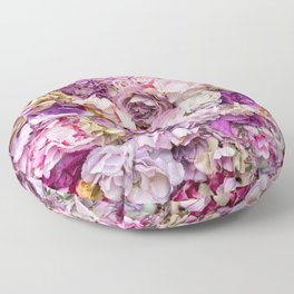 Pink Roses Floor Pillow