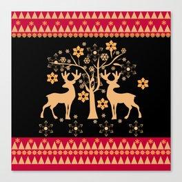 Christmas deer 2 Canvas Print