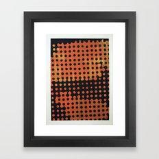 ORANGE HALFTONE Framed Art Print