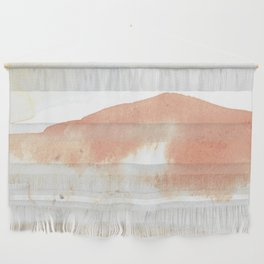 Terra Cotta Hills Abstract Landsape Wall Hanging